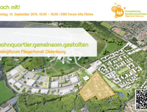 Jetzt vormerken: Dialogforum Fliegerhorst – wohnquartier.gemeinsam.gestalten am 14.09.2019