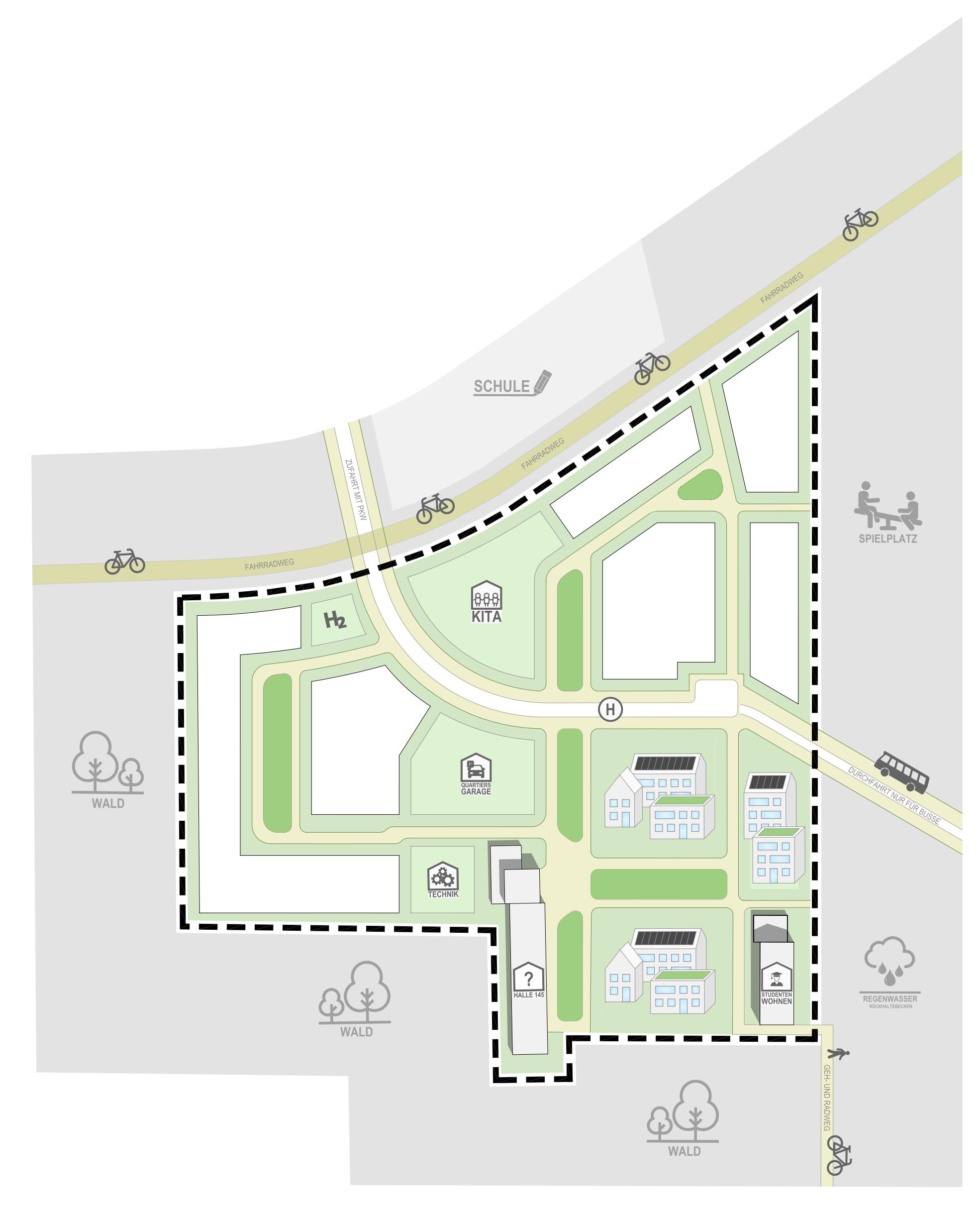 Skizze des zukünftigen Wohnquartiers. Quelle: GSG Oldenburg.