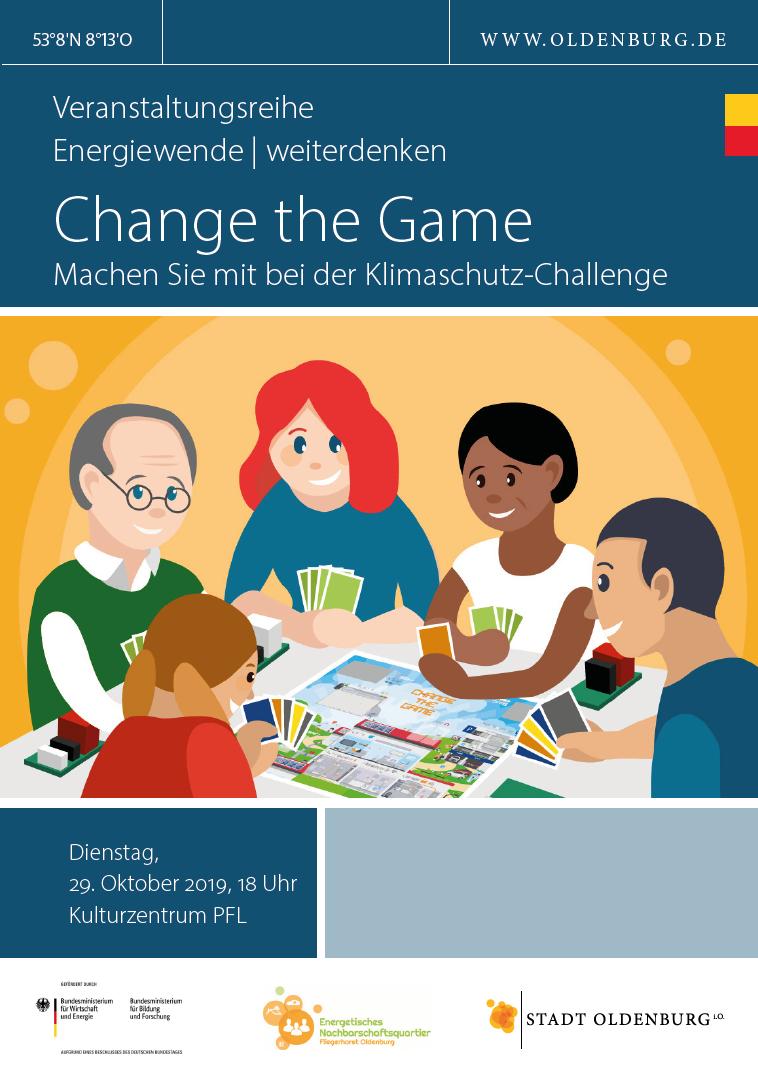 Veranstaltungsflyer Change the Game, Bild: Stadt Oldenburg