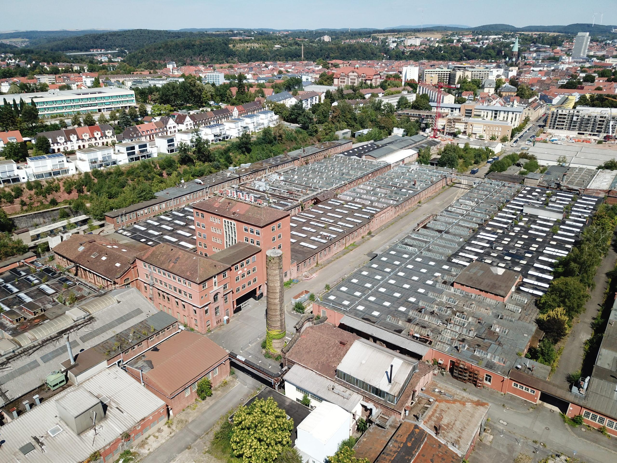 Pfaff Quartier aus der Luft, Bildquelle: Hochschule Trier – IfaS 2018