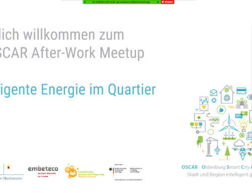 "Digitales After-Work Meetup – OSCAR II ""Intelligente Energie im Quartier"""
