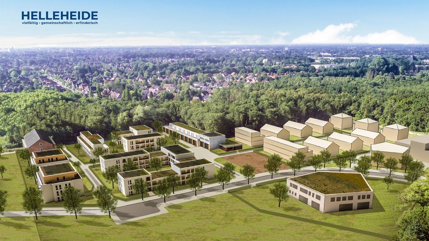 Skizze des Quartiers Helleheide, Bildquelle: GSG Oldenburg/Stadt Oldenburg