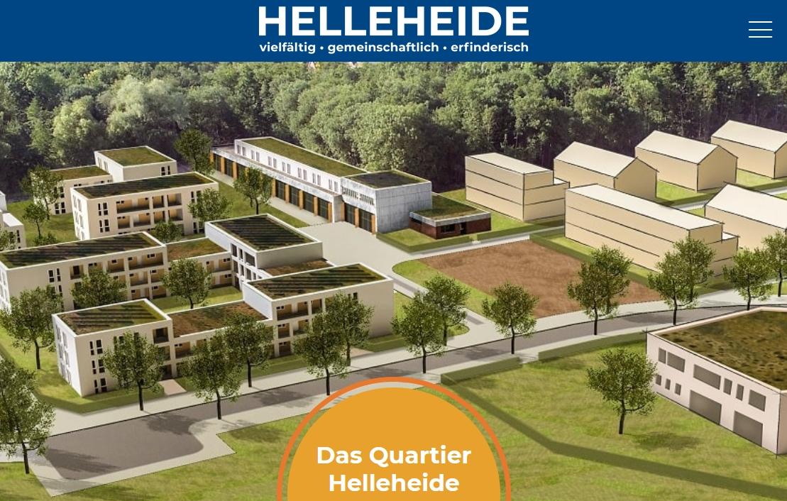Neue Webseite Helleheide, erstellt durch Quantumfrog; Bildquelle: GSG/ Stadt Oldenburg